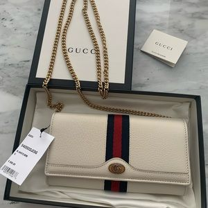 Gucci Ophidia White Wallet on a Chain w/ tags